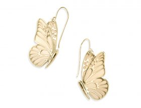 Handmade Vermeil Butterfly Earrings - Pearl Pattern