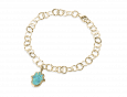 handmade vermeil hamsa charm bracelet turquoise