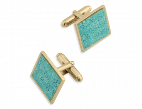 vermeil square turquoise cufflinks