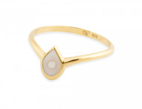 handmade vermeil white peacock eye ring