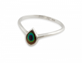 handmade silver peacock eye ring
