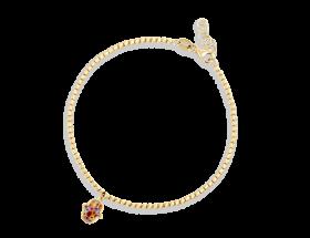14K Yellow gold Hamsa charm, Millefiori pattern by Adina Plastelina