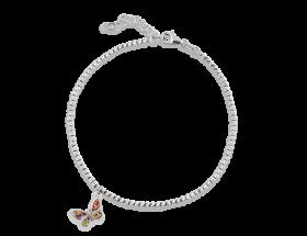 14K White gold Butterfly charm, Millefiori pattern by Adina Plastelina