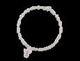 14K White gold Angel charm, rose quartz pattern by Adina Plastelina